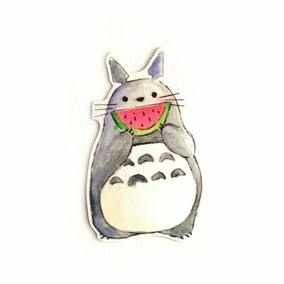 Watermelon Totoro Sticker