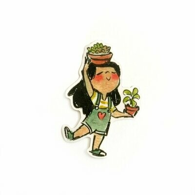 Succulent Girl Sticker