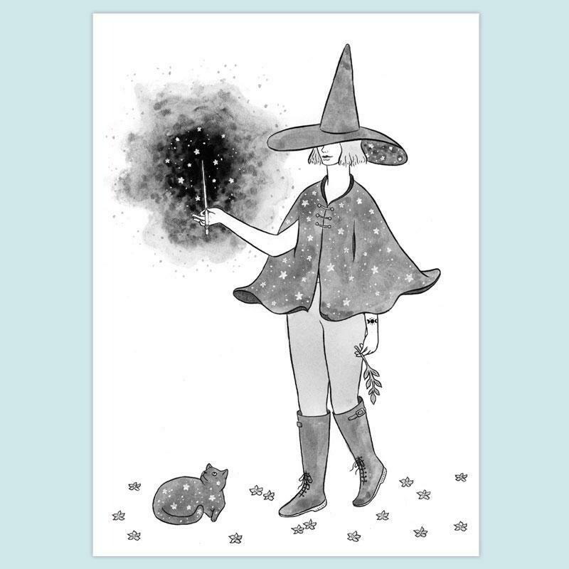 Starry Witch 5x7 Print