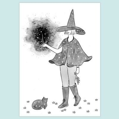 Starry Witch 5x7 Print