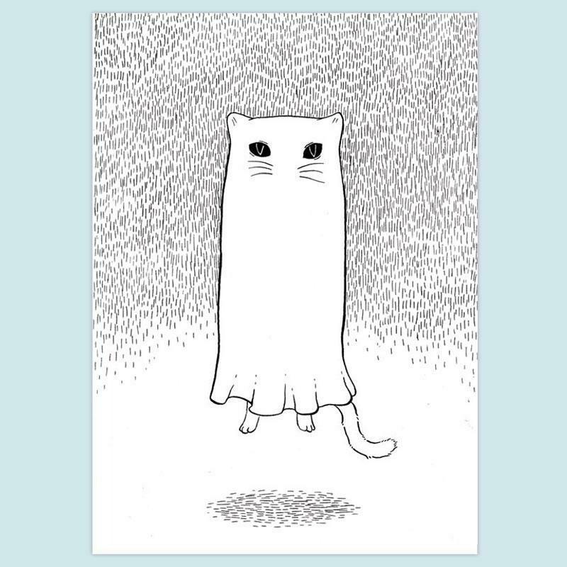 Floating Ghostie 5x7 Print