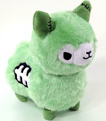 Zombie Alpaca Plush- Green