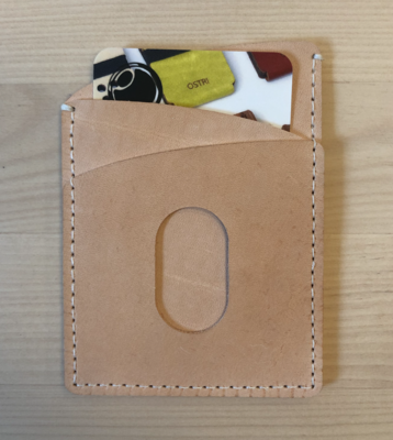 Curv Card Wallet, Tan (all leather)