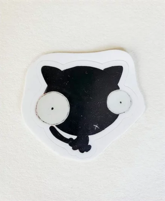 Sticker, Black Cat