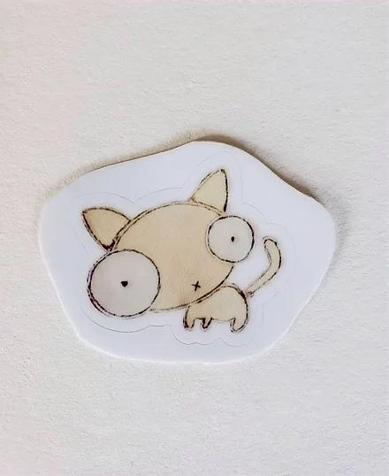 Sticker, Tiny Standing Cat