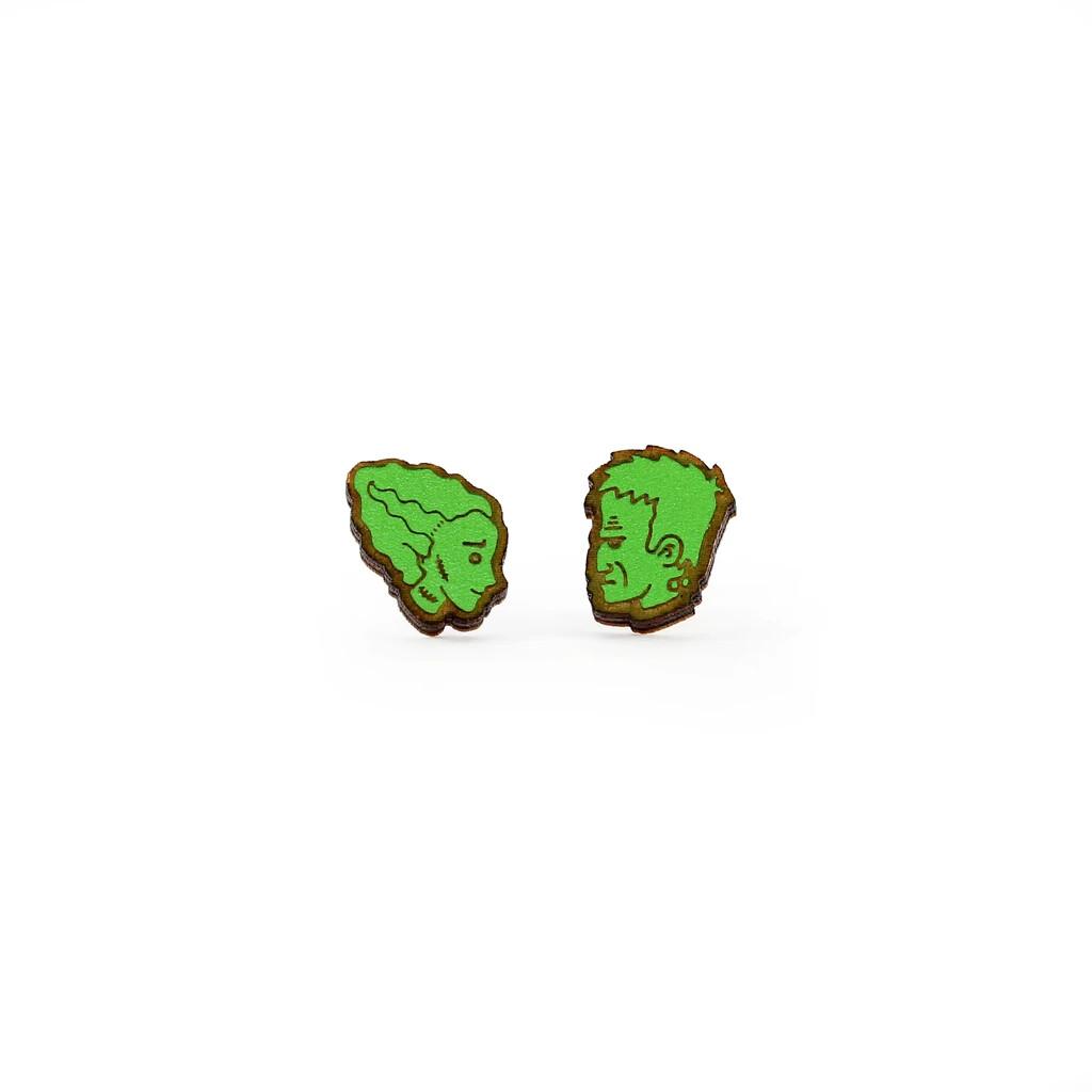 Frankenstein's Monster + Bride Earrings, Green