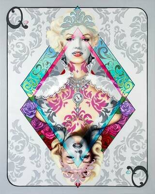 Marilyn Queen Of Diamonds, 8 x 10 Print