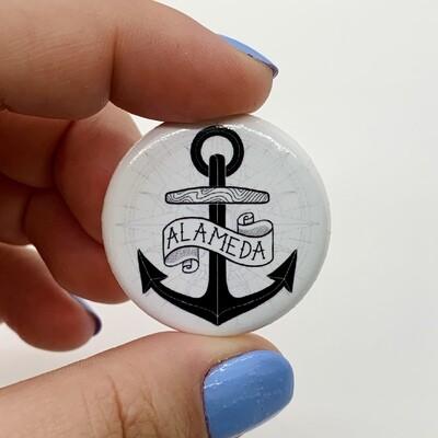 Button, Compass Anchor (Alameda)