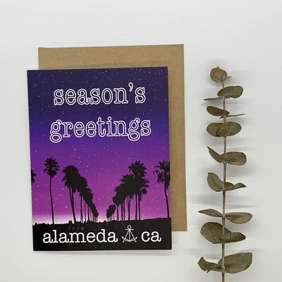 Card, Palm Tree Lane (Holiday)