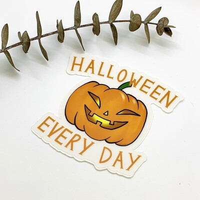 Clear Sticker, Halloween Every Day