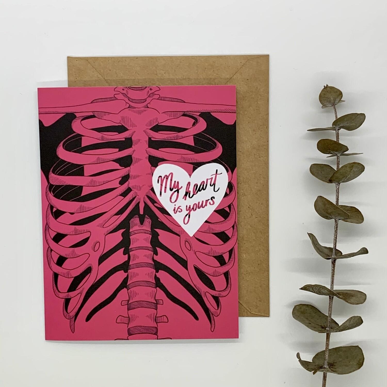 Card, Anatomical Love (Pink)