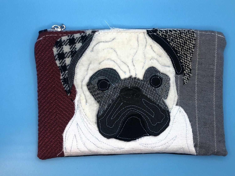 Pug Zippered Bag