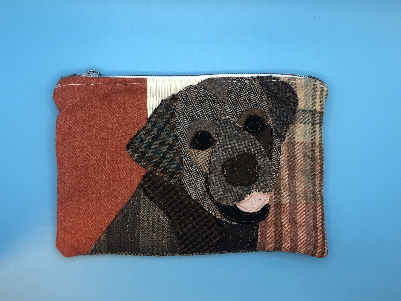 Brown Labrador Zippered Bag