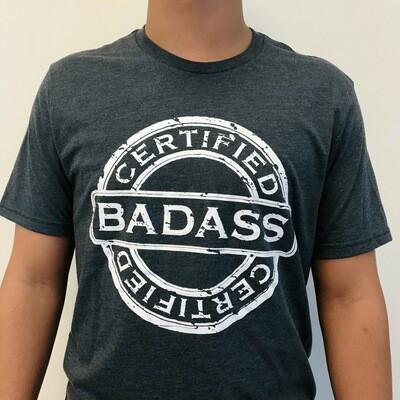 Certified Badass, Rebel Blue Masc Tee