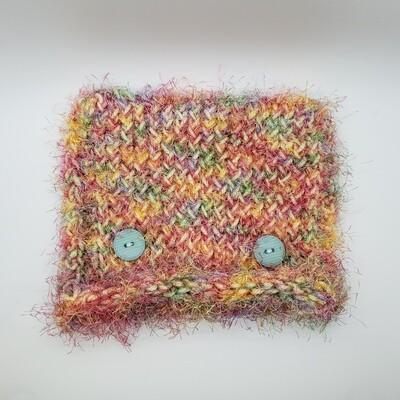 Square Hat, Blue Buttons - Multicolor