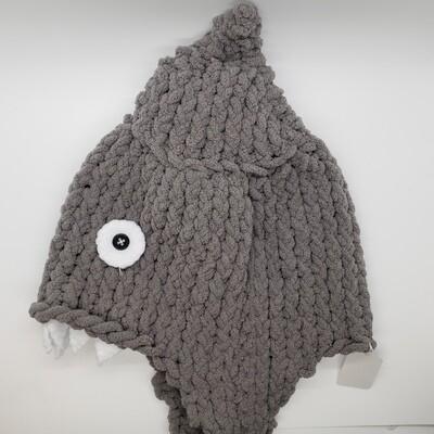Shark Hat, Grey