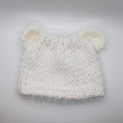 Bear Hat, White
