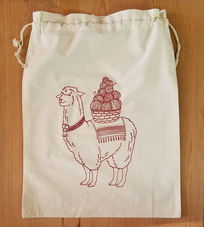 Drawstring Bag, Llama