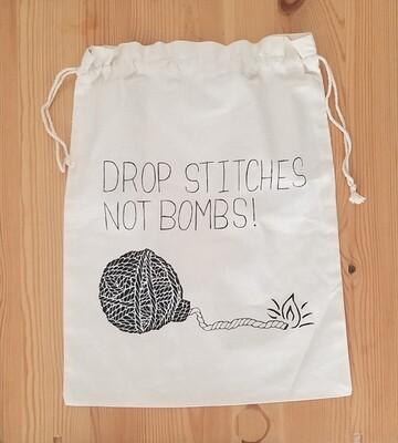 Drawstring Bag, Drop Stitches