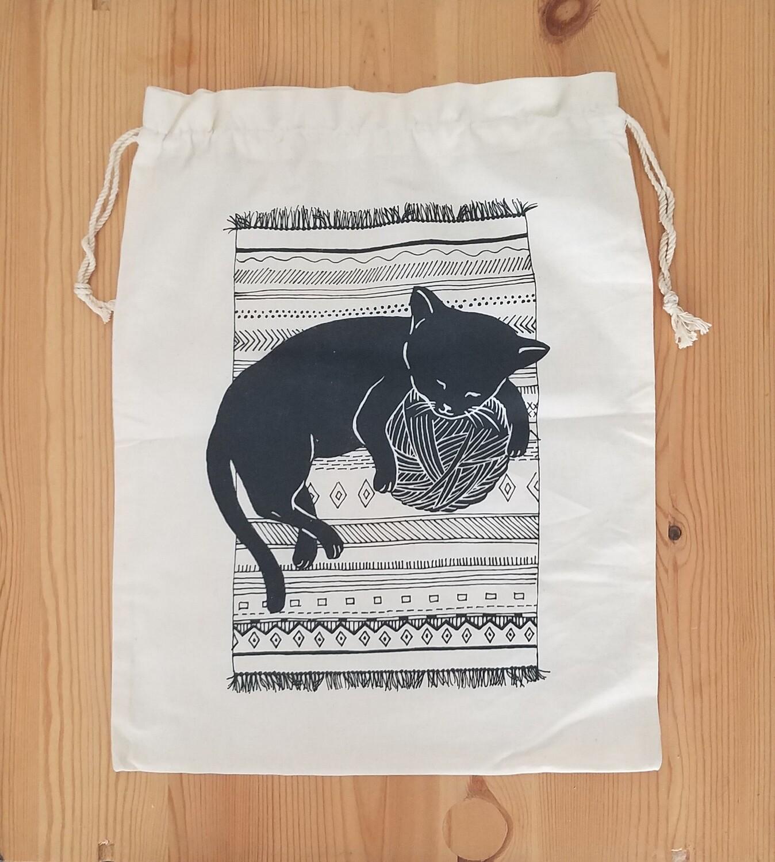 Drawstring Bag, Cat