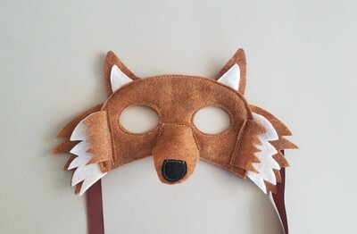 Mask, Wolf - Brown