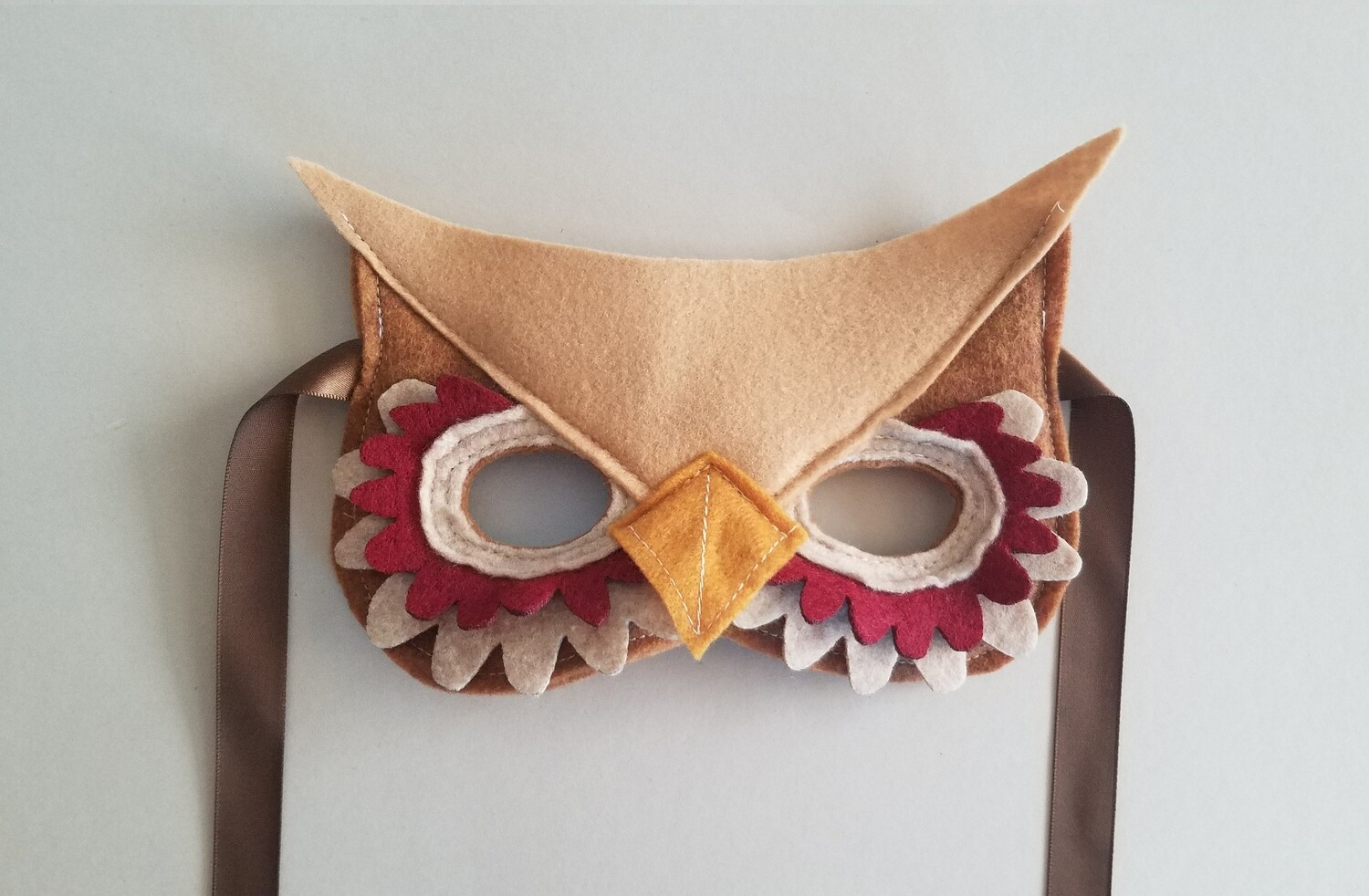 Mask, Owl - Red