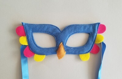 Mask, Bird - Blue