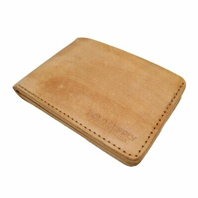 Bifold Wallet, Tan Leather