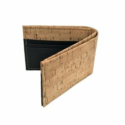 Cork & Nylon Bifold Wallet - Black