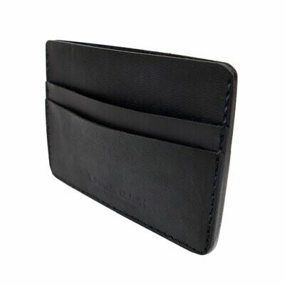 Card Holder Wallet, Black Leather