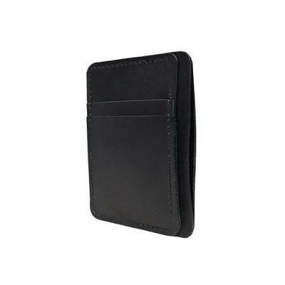 Front Pocket Wallet, Black Leather