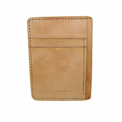 Front Pocket Wallet, Tan Leather