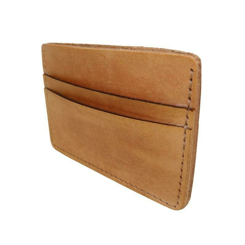 Card Holder, Tan Leather