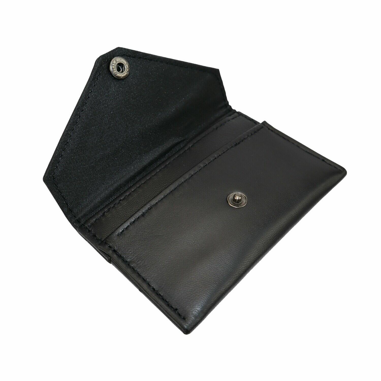 Card Pouch, Black Lambskin