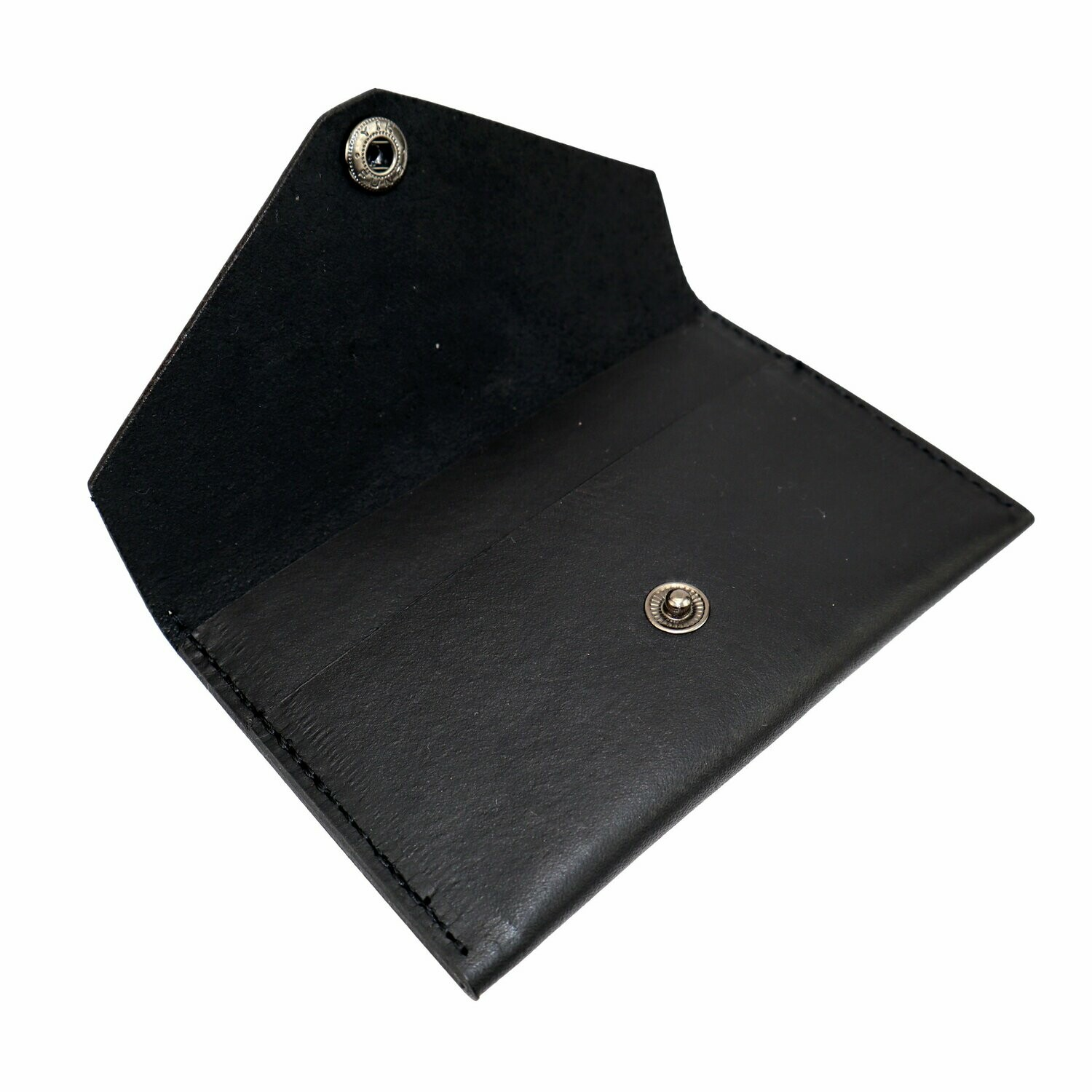 Card Pouch, Black Leather