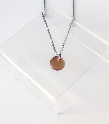 Necklace, Small Circle - Rose Gold