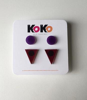 Koko Stud Pack - Purple-Orange