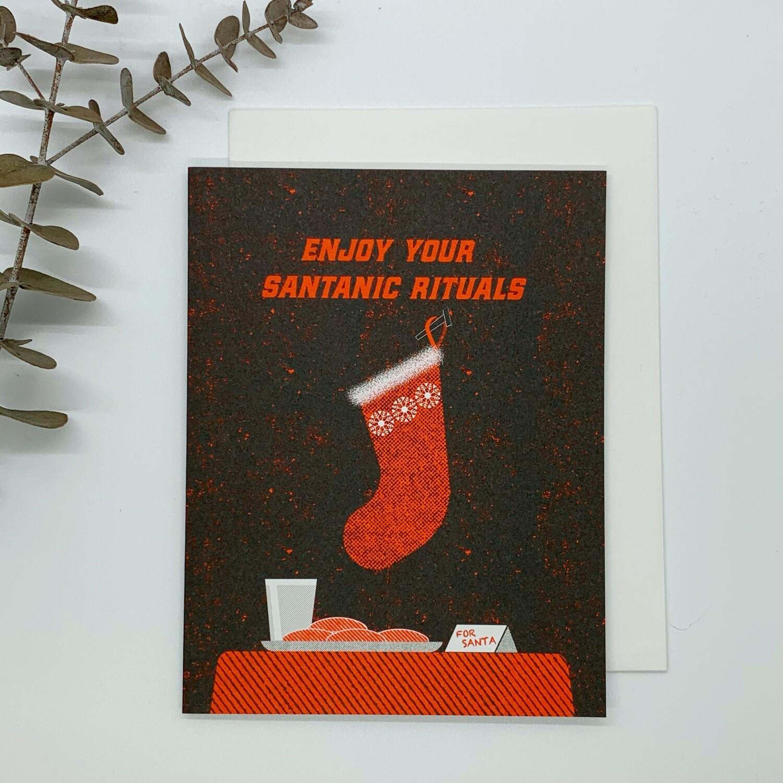 Enjoy Your Santanic Rituals Card