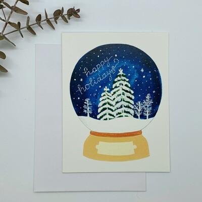 Snowglobe Card