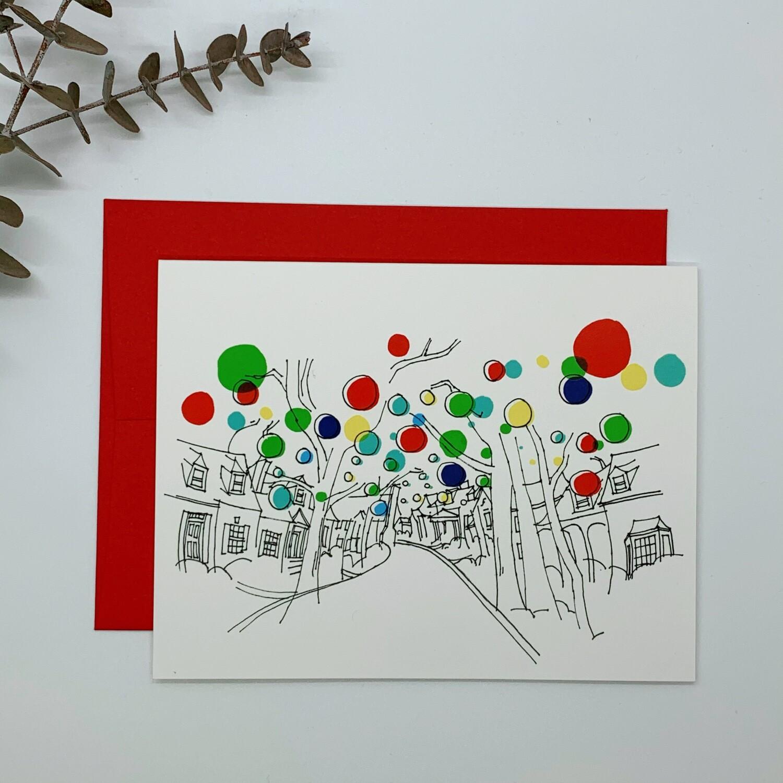 Christmas Balls Card, Single