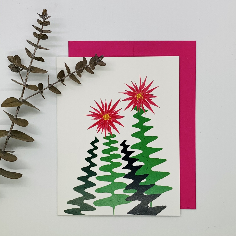 Zig Zag (Christmas) Cactus, Single Card