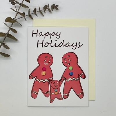 Gingerbread Family - Holiday Card