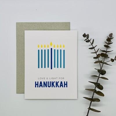 Minimal Menorah Card