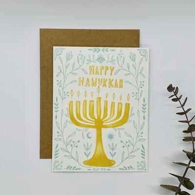 Happy Hanukkah Floral