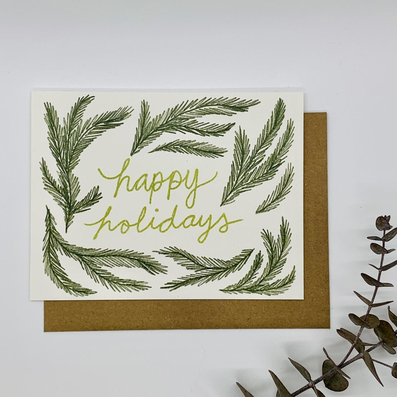 Happy Holidays Greenery