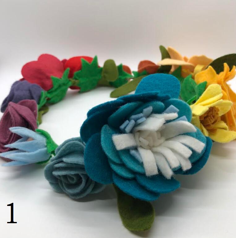 Felt Flower Crown, Rainbow Extra - Assorted