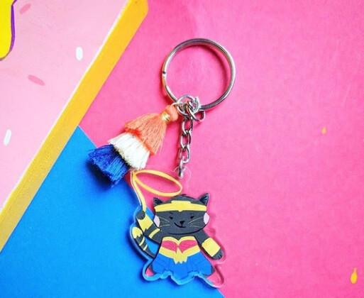 SALE - Keychain, Wonder Kitty