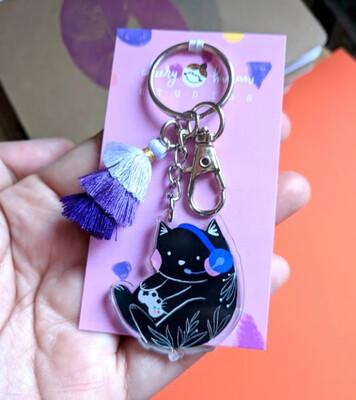 SALE - Keychain, Gamer Kitty