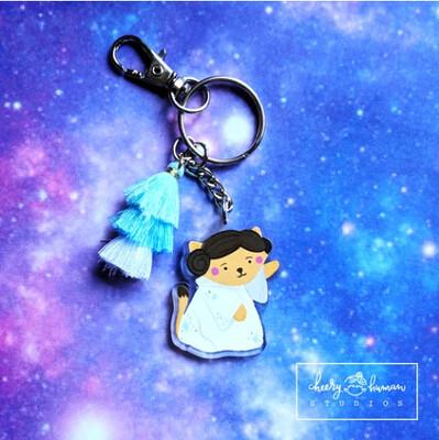 SALE - Keychain, Space Princess Kitty