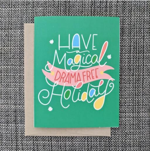 Drama Free, Holiday Card